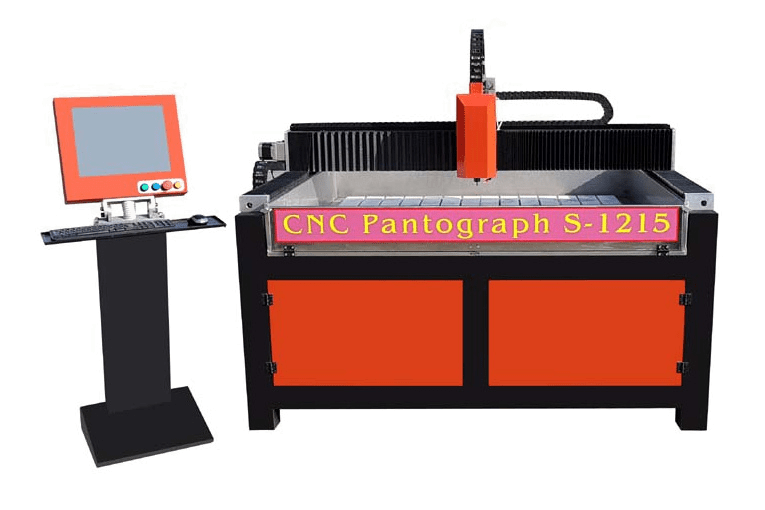 CNC pantograf serie S - gravírovaní do kamene